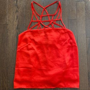 H&M Red-Orange Loose Cami with Delicate Straps